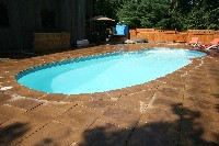 Oasis Fiberglass Pool in Saint Louis, MO
